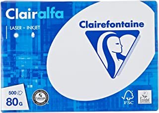 Clairefontaine 1910C Clairalfa - Papel blanco A5 (148×210 mm), 80 g/m², 500 hojas