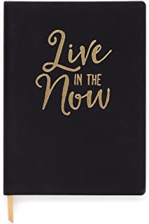 DesignWorks Ink Cloth Bound Personal Journal, Black - Live in the Now