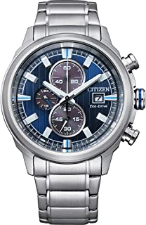Men's Brycen Eco-Drive Technology Watch with Stainless Steel Strap, Silver, 22 (Model: CA0731-82L)