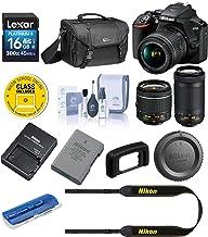 $496 » Nikon D3500 24MP DSLR Camera with AF-P DX NIKKOR 18-55mm f/3.5-5.6G VR Lens and AF-P DX NIKKOR 70-300mm f/4.5-6.3G ED Lens - Bundle with Camera Case, 16GB SDHC Card, Cleaning Kit, Card Reader