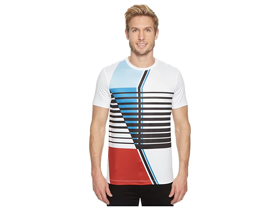 Perry Ellis PE360 Active Graphic Crew Tee (Bright White) Men