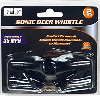 JEWELS FASHION Set of Two Ultrasonic Deer Whistle Alerts-Begins Working at 35 MPH-Powered by Wind Energy, Non-Electric