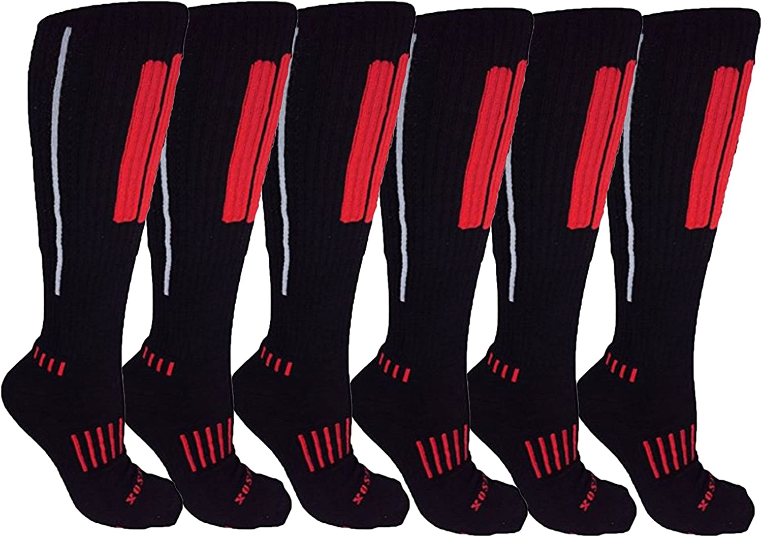 MOXY Socks 6Pack KneeHigh Black Red Grey Performance Deadlift APeX Socks