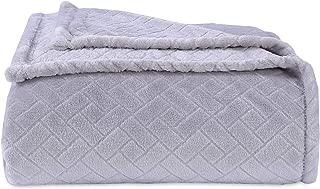 Berkshire Blanket VelvetLoft Beautiful Basket Bed Blanket, King, Castle Rock
