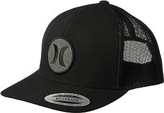 Men's Black Textures Patch Trucker Baseball Cap