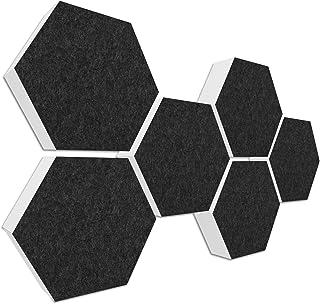 Basotect G+ geluidsisolatie < 6 akoestische elementen Ø 30 cm, 7 cm dik > Basic Set 01 antraciet