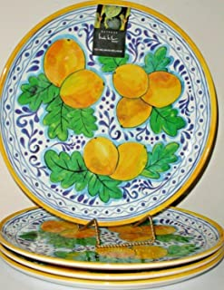 Nicole Miller Tuscan Lemons Melamine Dinner Plates Set of 4