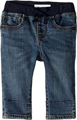 Pullon Jean Shorts in Mid Indigo (Infant/Toddler)