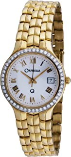 ORPHELIA - mon-7018 - Reloj analógico de Cuarzo para Mujer, Correa de Dorado Color Dorado