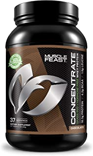 Grass Fed Whey Protein Concentrate by Muscle Feast | Hormone Free and Kosher Certified (2 lbs, Chocolate)