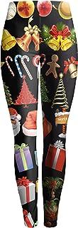 (ビウインキー) Biwinky レディース レギンス レギパン スパッツ タイツ スキニー ウェストゴム ストレッチ プリント おしゃれ クリスマス柄