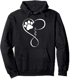 Dog Hoodie Fun Pawprint Design Hoodie Gift Love Dogs Hoodies