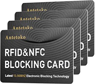 RFID Blocking Card | NFC Contactless Cards Protection | Protect Your Entire Wallet | No More Need for Single Sleeves | for Men or Women, Credit Card Holder, Wallets or Passport (White)