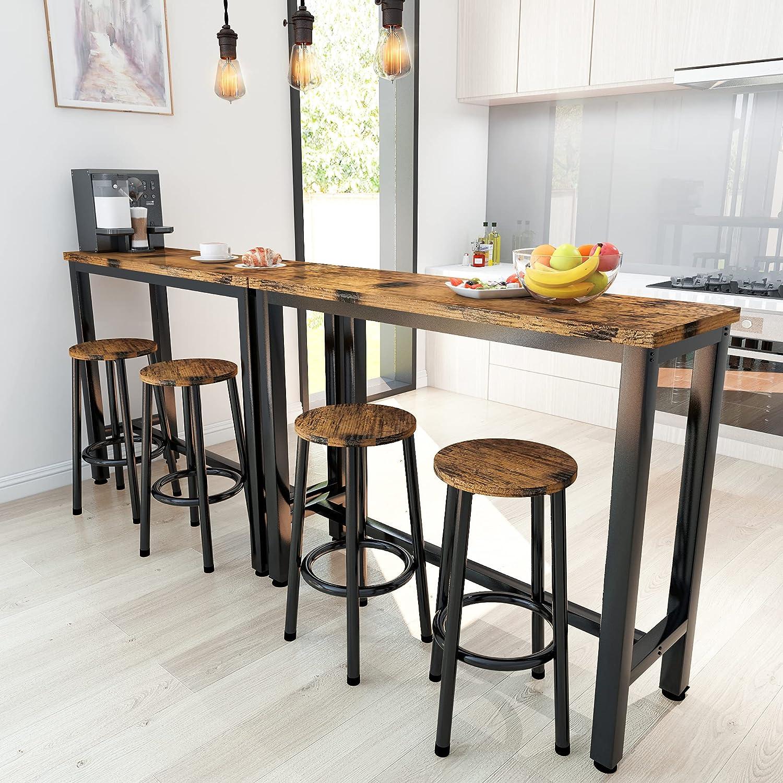 Buy HOOSENG Bar Table Set 9PCS Rectangle Kitchen Counter ...