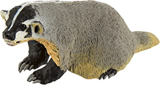 Safari Ltd. Wild Safari North American Wildlife – American Badger – Realistic Hand Painted Toy Figurine Model – Quality Construction from Safe and BPA Free Materials – for Ages 3 and Up