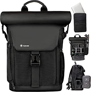 TARION Camera Backpack Rolltop Photography Backpack with Removable Laptop Case 2 in 1 Large Capacity Camera Bag with Water...