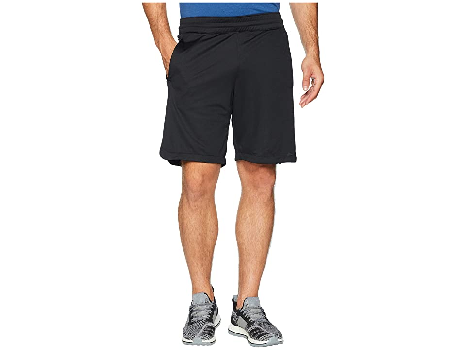 adidas Accelerate 3-Stripes Shorts (Black/Black) Men's Shorts