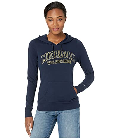 Champion College Michigan Wolverines Eco(r) University Fleece Hoodie (Navy 3) Women
