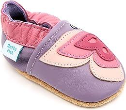 Chaussures Cuir Souple bébé et Bambin. 0-6 Mois à