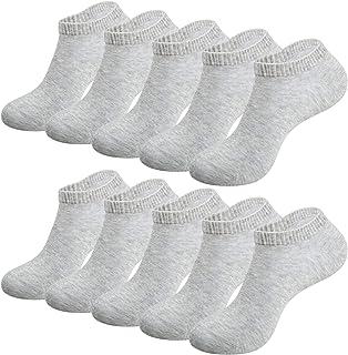 RUIXUE 10 Pairs Work Ankle Socks, Breathable Trainer Running Socks for Women Men, Cotton Walking Socks Low Cut Sports Sock...