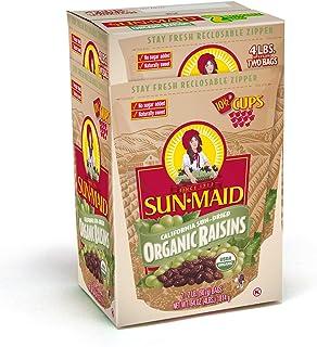 Sun-Maid Organic Raisins - Dried Fruit Snacks Healthy snacks for kids - 64oz (Split Into 2 Resealable Bag of 2 LBS Each, T...