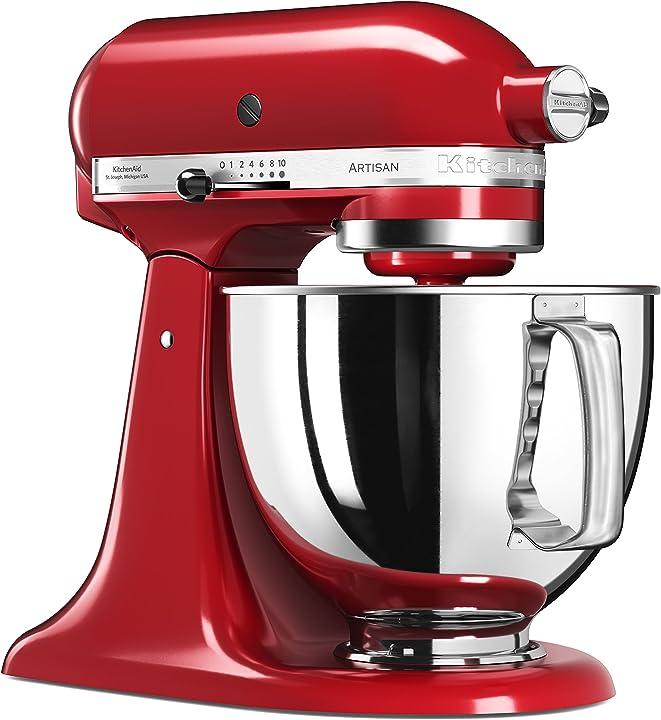 Robot da cucina  artisan kitchenaid 5ksm125eer , colore rosso imperiale 144279