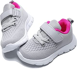 Toddler Shoes Boys Girls Lightweight Breathable Sneakers Washable Strap Athletic Tennis Shoes for Running Walking