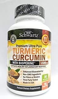 Turmeric Curcumin with BioPerine 1500mg - Natural Joint & Healthy Inflammatory Support with 95% Standardized Curcuminoids ...