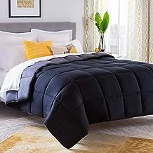 Linenspa All-Season Reversible Down Alternative Quilted California King Comforter - Hypoallergenic - Plush Microfiber Fill - Machine Washable - Duvet Insert or Stand-Alone Comforter - Black/Graphite