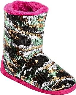 Blazin Roxx Youth Girls Camo Sequin Boot Slippers