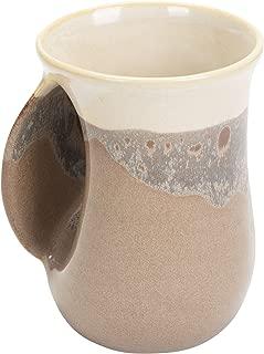 Desert Sand 14 Ounce Ceramic Handwarmer Coffee Mug, Left Hand