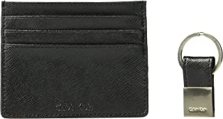 Calvin Klein Men's Leather Card Case with Key Fob