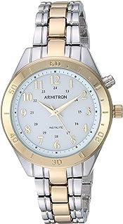 ساعة يد نسائية من Armtron ذات وظيفة الإضاءة الخلفية بلونين