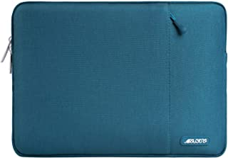 MOSISO ラップトップ スリーブケース 耐衝撃 撥水 ポリエステル 保護 インナーケース 13-13.3インチ ノートパソコン MacBook Air 13/MacBook Pro Retina 13 2012-2015/Surface Laptop 13.5/Chromebook対応 ポケット付き(ディープティール)