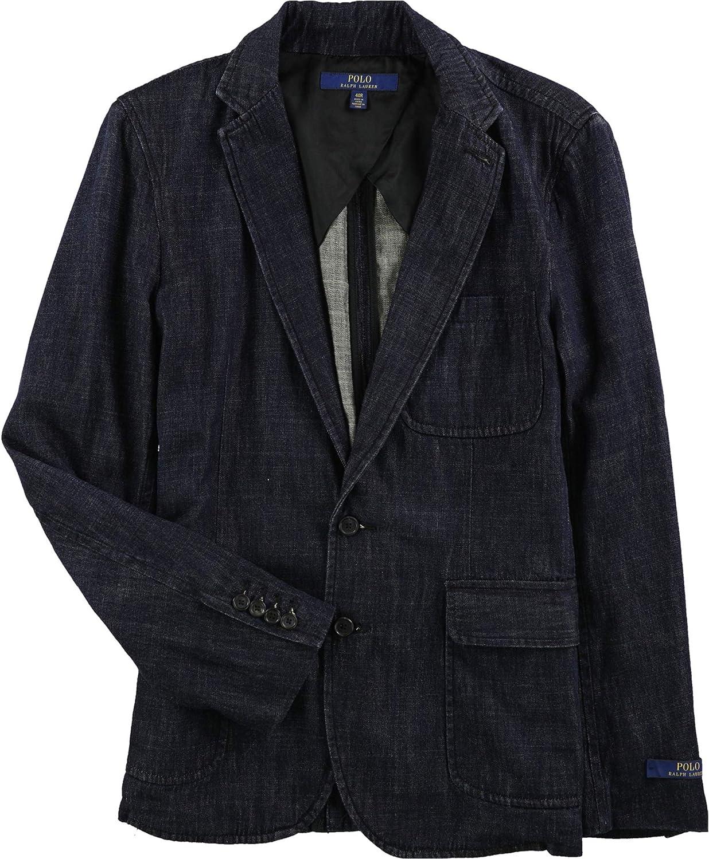 Ralph Lauren Mens Morgan Two Button Blazer Jacket, Blue, 42 Long