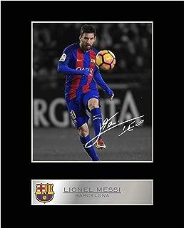 Lionel Messi Mounted Photo Display Barcelona