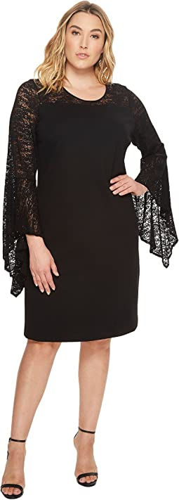 Vince Camuto Specialty Size - Plus Size Handkerchief Lace Dress