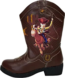 Disney Pixar Toy Story II Woody Light Up Toddler Boys Cowboy Boots