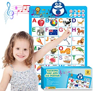 Mia Bambina Educational Toys for Toddlers - Electronic ABC Poster   Teaches Tactile Memory, Word Association & Counting   ...