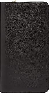 FOSSIL Men's Multi-Zip Passport Case Wallet