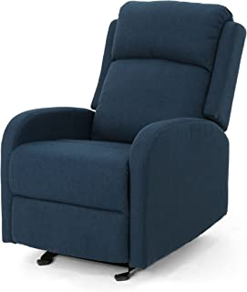 Christopher Knight Home Avaa Recliner, Navy Blue + Black