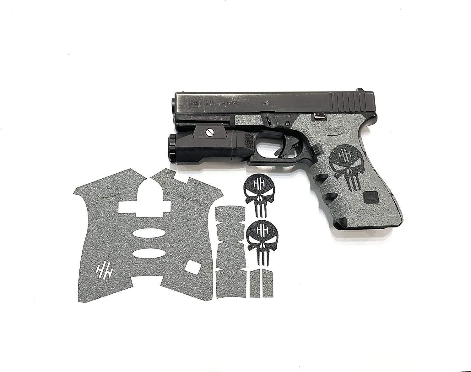 Handleitgrips Gray Direct stock discount Textured Rubber Gun Inventory cleanup selling sale Enhancement with Sku Grip