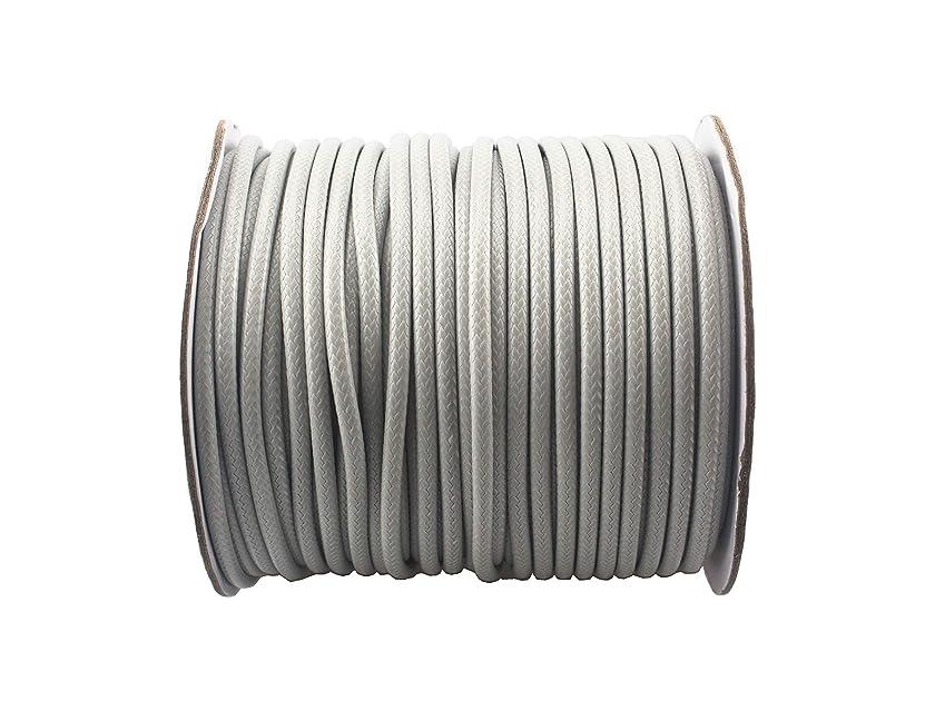 QIANHAILIZZ 42 Yards 3.0 mm Waxed Jewelry Making Cord Waxed Beading String Craft DIY Thread (Silver)