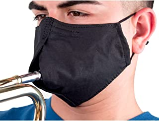 ProTec Wind Instrument Face Mask for Woodwind and Brass Instrument, Model A340, Size Small, Black