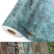 CV vloerbedekking Koi - extra slijtvaste PVC vloerbedekking (geschuimd) - Foto Print Koi Karpers - Oppervlak gestructureer...