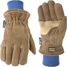 Men's HydraHyde Insulated Split Leather Winter Work Gloves, Extra Large (Wells..