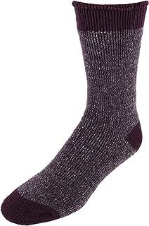 Dearfoams Men's Marled Knit Cabin Sock Slipper,