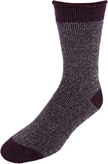 Dearfoams Men's Brushed Cabin Slipper Socks, Purple