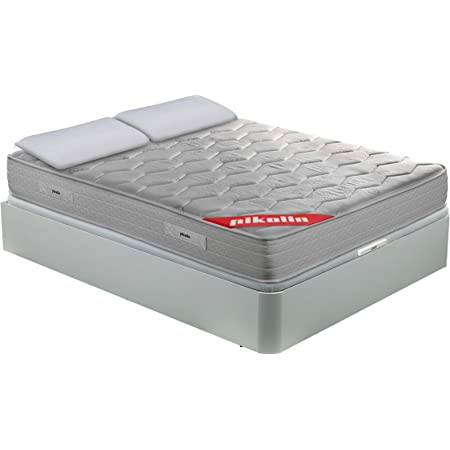 PIKOLIN Pack Colchón viscoelástico de muelles 150x190+ canapé ...
