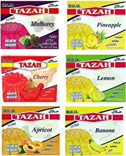 Mix 6 Assorted Gelatin Dessert Jello Halal 3.oz/85gm each - Pack of 6 - جيلية حلال مشكل من 6 نكهات